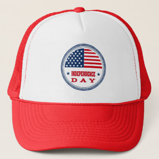 Patriotic Stars and Stripes July 4th Trucker Hat