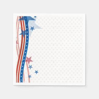 Patriotic Stars and Stripes Napkin