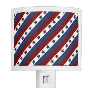 Patriotic Stars and Stripes Night Light