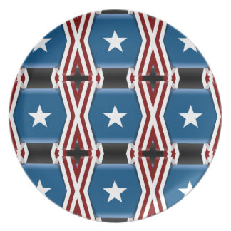 Patriotic Stars And Stripes Plate