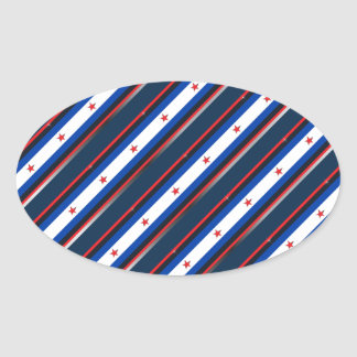 Patriotic Stars and Stripes Stickers