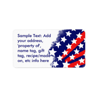 Patriotic Stars and Stripes Stylized Labels