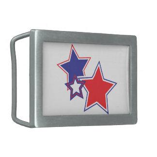 Patriotic Stars Belt Buckle
