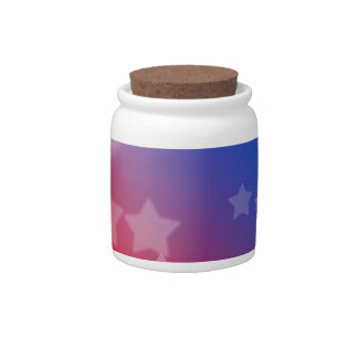 Patriotic Stars Candy Dishes