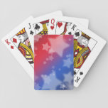 "Patriotic Stars Classic Playing Cards<br><div class=""desc"">A patriotic ofering from Southern Sparkles. Easy to shuffle,  smooth card stock. 52 playing cards and 2 Jokers per deck. Cards come in a simple &amp; elegant custom Zazzle cardboard box. Dimensions: 2.5&quot; x 3.5&quot;; poker size playing cards.</div>"