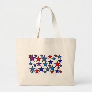 patriotic stars effects.jpg large tote bag