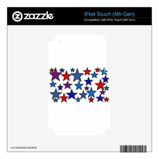 patriotic stars effects.jpg skins for iPod touch 4G