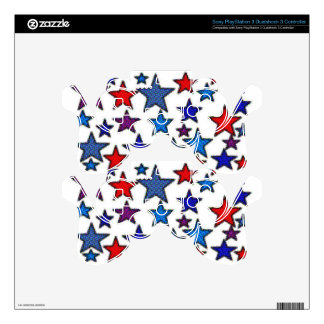 patriotic stars effects.jpg skins for PS3 controllers