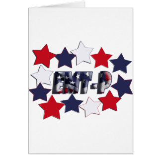 PATRIOTIC STARS EMT-P EMERGENCY MED TECH PARAMEDIC CARD