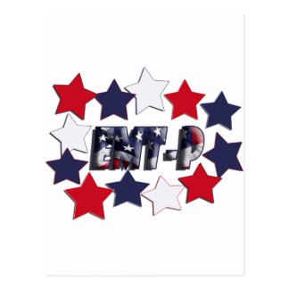 PATRIOTIC STARS EMT-P EMERGENCY MED TECH PARAMEDIC POSTCARD