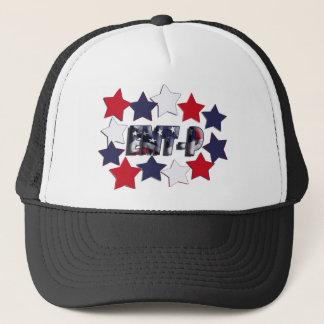 PATRIOTIC STARS EMT-P EMERGENCY MED TECH PARAMEDIC TRUCKER HAT