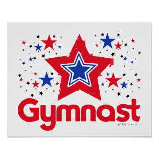 Patriotic Stars Gymnastics by Golly Girls Poster