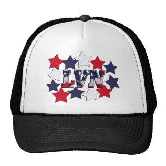 PATRIOTIC STARS LVN LICENSED VOCATIONAL  NURSE TRUCKER HAT
