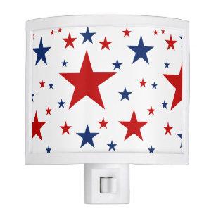 Patriotic Stars Night Light