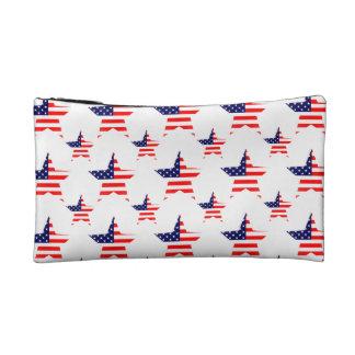 Patriotic Stars Pattern Cosmetic Bags