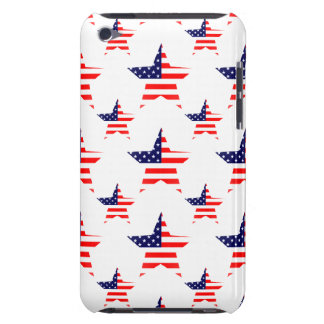 Patriotic Stars Pattern Barely There iPod Case