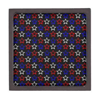 Patriotic Stars Pattern Keepsake Box