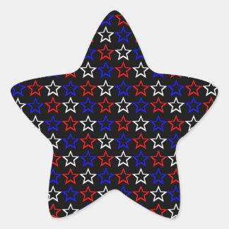 Patriotic Stars Pattern Star Sticker