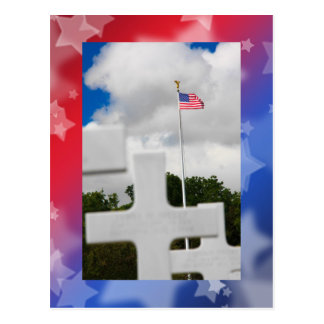 Patriotic Stars Postcard