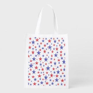 Patriotic Stars Reusable Grocery Bag