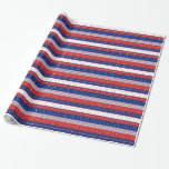 Patriotic Stars & Stripes Abstract American Flag 2 Wrapping Paper