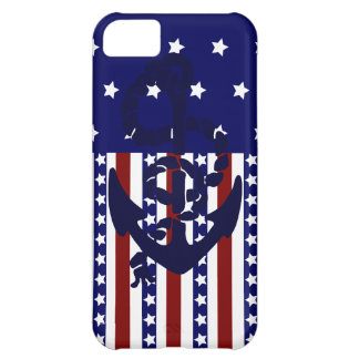 Patriotic Stars Stripes Anchor Sailor Pattern iPhone 5C Covers
