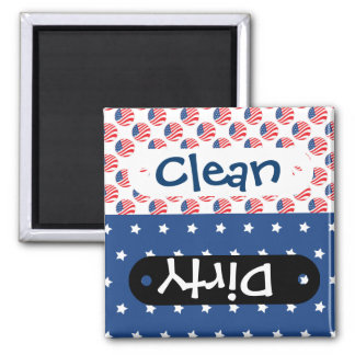 Patriotic Stars Stripes Freedom Flag 4th of July 2 Inch Square Magnet