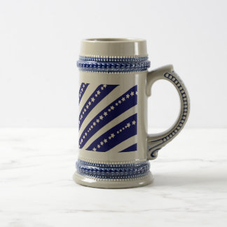 Patriotic Stars Stripes Freedom Flag 4th of July Beer Stein