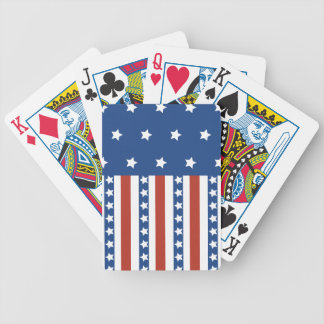 Patriotic Stars Stripes Freedom Flag 4th of July Bicycle Playing Cards