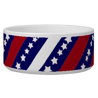 Patriotic Stars Stripes Freedom Flag 4th of July Bowl