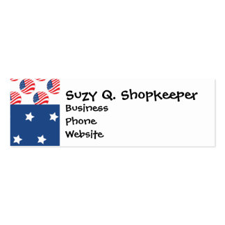 Patriotic Stars Stripes Freedom Flag 4th of July Business Card Templates