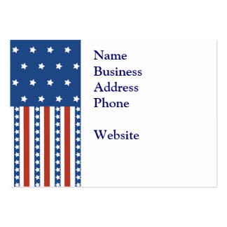 Patriotic Stars Stripes Freedom Flag 4th of July Large Business Cards (Pack Of 100)