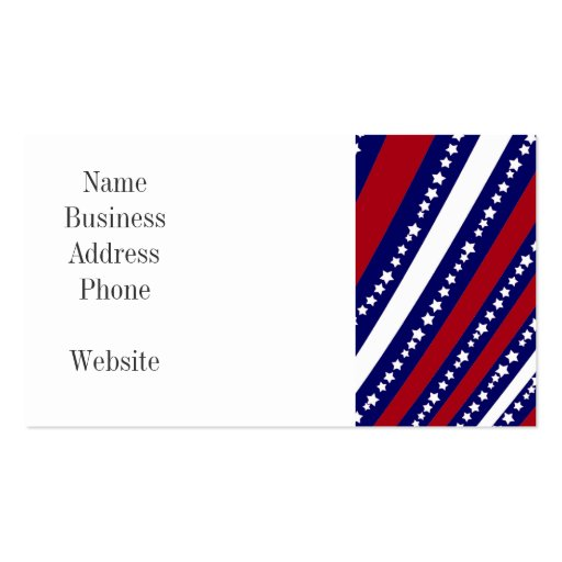 Patriotic stars stripes freedom flag 4th of july business for Patriotic business card template