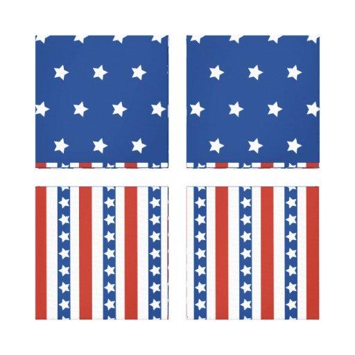 Patriotic Stars Stripes Freedom Flag 4th of July Canvas Print