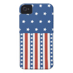 Patriotic Stars Stripes Freedom Flag 4th of July Case-Mate iPhone 4 Case