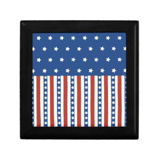 Patriotic Stars Stripes Freedom Flag 4th of July Jewelry Boxes
