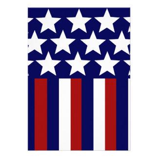 Patriotic Stars Stripes Freedom Flag 4th of July Invites
