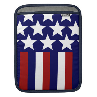 Patriotic Stars Stripes Freedom Flag 4th of July Sleeves For iPads