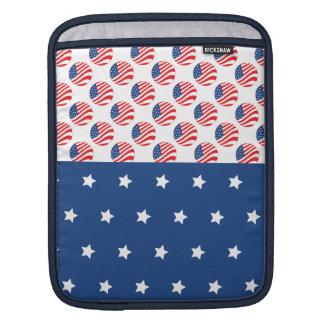 Patriotic Stars Stripes Freedom Flag 4th of July iPad Sleeves