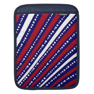 Patriotic Stars Stripes Freedom Flag 4th of July iPad Sleeve