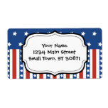 Patriotic Stars Stripes Freedom Flag 4th Of July Label at Zazzle