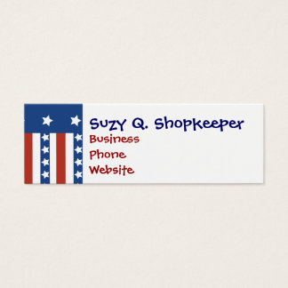 Patriotic Stars Stripes Freedom Flag 4th of July Mini Business Card