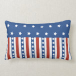 Patriotic Stars Stripes Freedom Flag 4th of July Throw Pillows