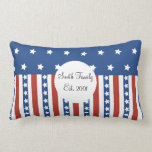 Patriotic Stars Stripes Freedom Flag 4th of July Pillow