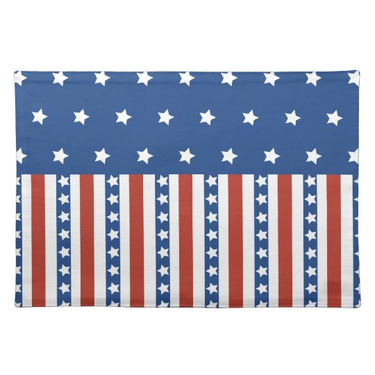 Patriotic Stars Stripes Freedom Flag 4th of July Placemat