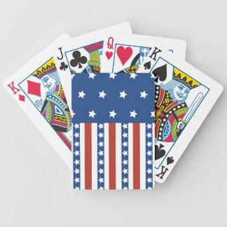 Patriotic Stars Stripes Freedom Flag 4th of July Card Deck