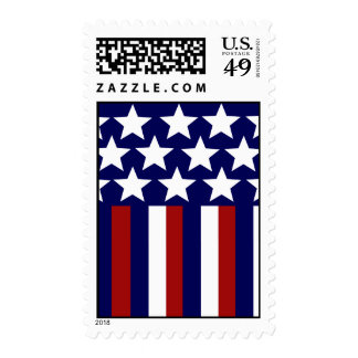 Patriotic Stars Stripes Freedom Flag 4th of July Stamp