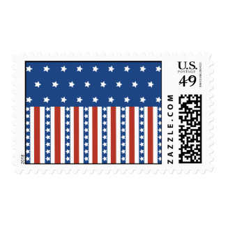 Patriotic Stars Stripes Freedom Flag 4th of July Stamps
