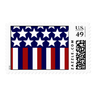 Patriotic Stars Stripes Freedom Flag 4th of July Postage Stamps
