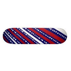 Patriotic Stars Stripes Freedom Flag 4th of July Skate Boards